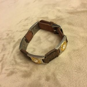 Jewelry - SABONA LEATHER AND GOLD AND SILVERTONE